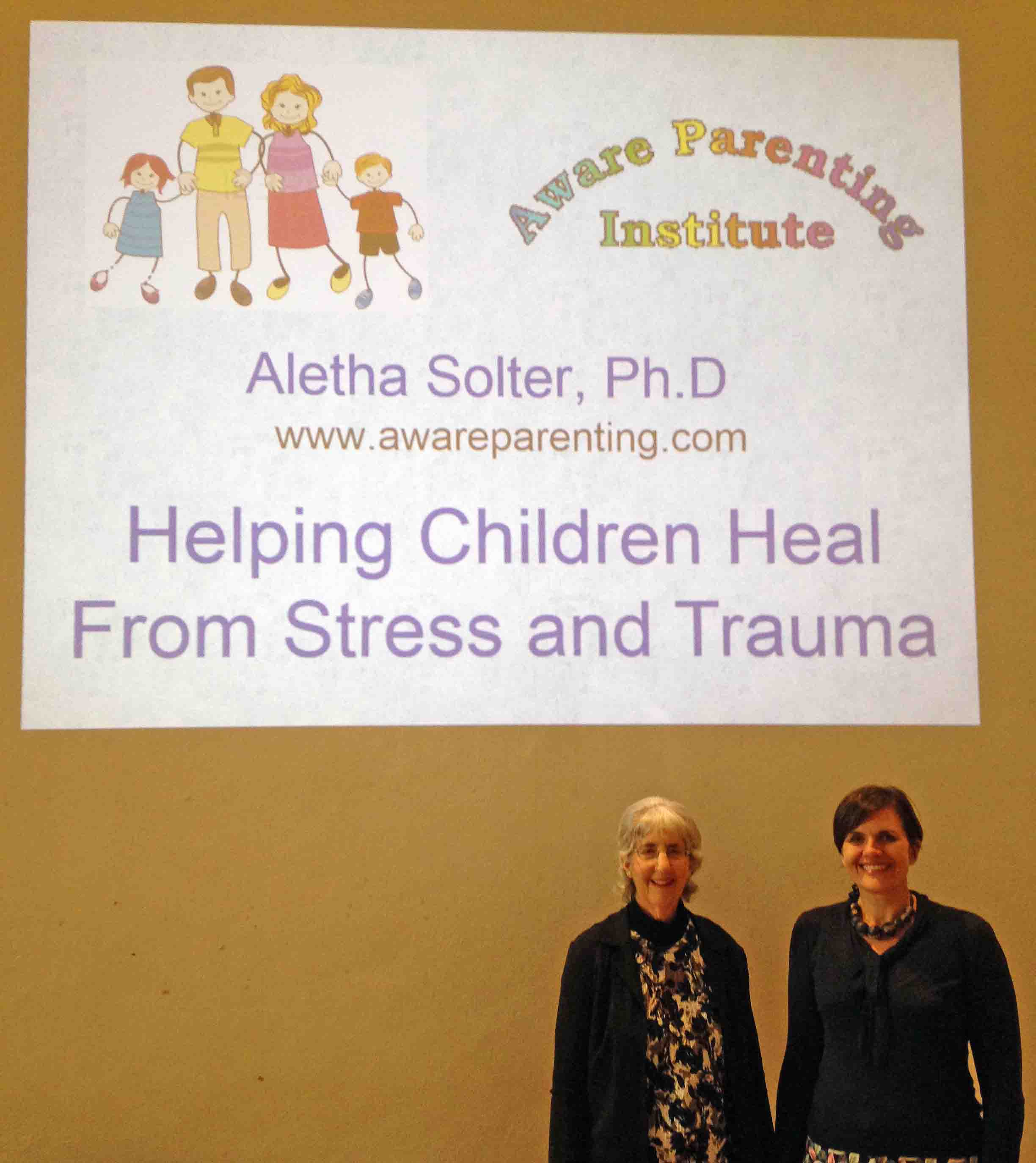 Aletha with Rebecca at London workshop
